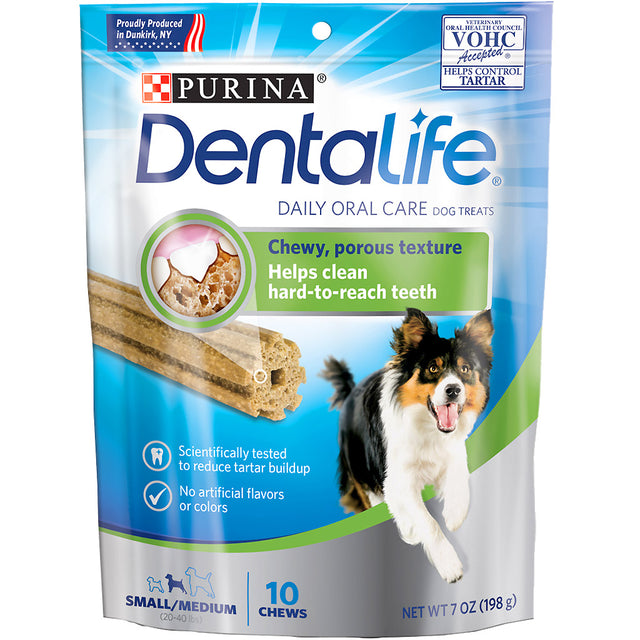 25% OFF [NEW] Purina® DentaLife Daily Oral Care Small/Medium Dental Dog Treats