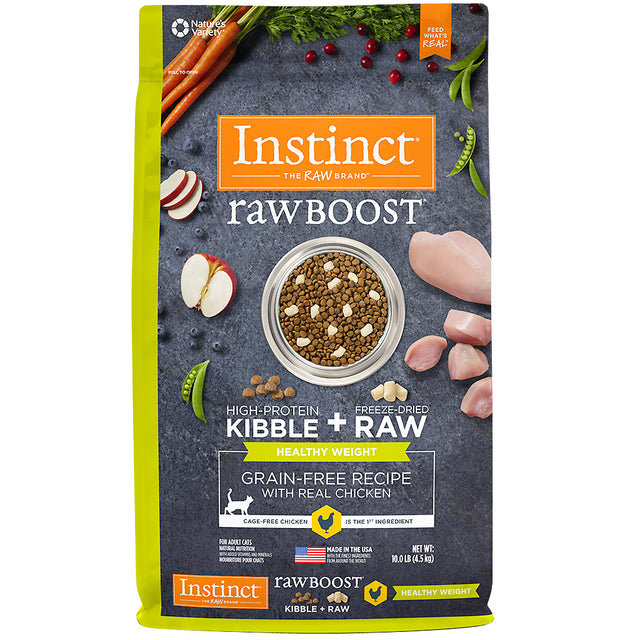 15% OFF + FREE MIXERS: Instinct® Raw Boost Healthy Weight Grain-Free Dry Cat Food (2kg)