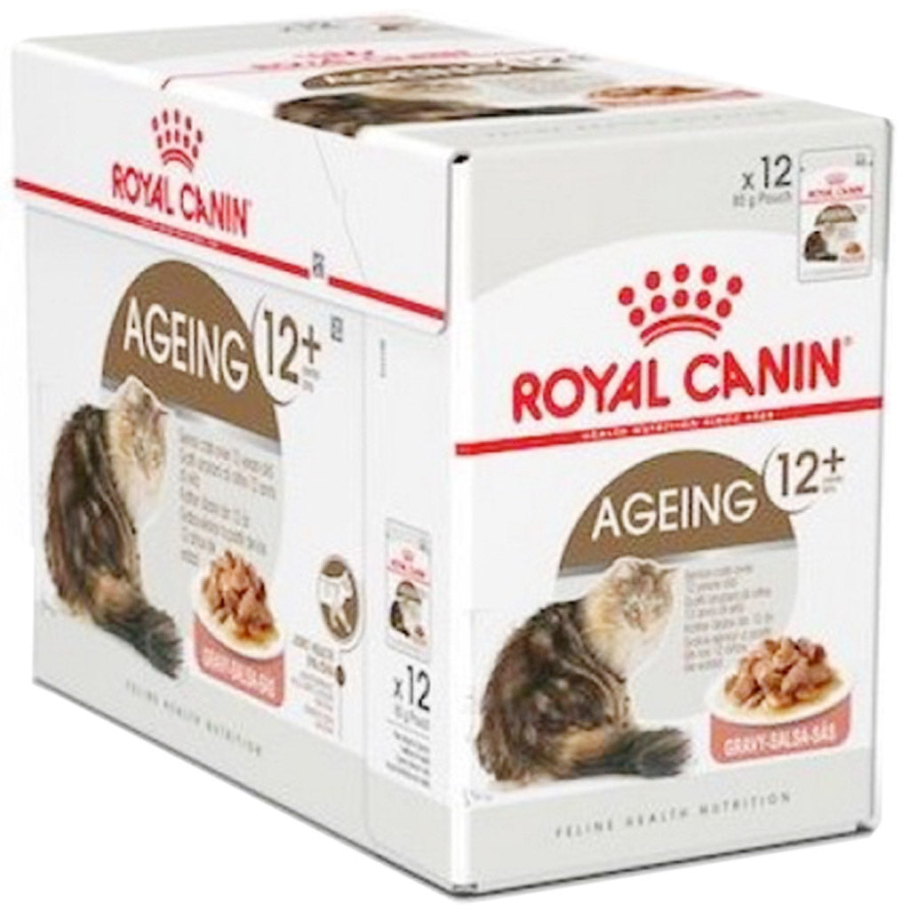 20% OFF: Royal Canin® Feline Ageing +12 Wet Pouches Cat Food 85g (12pcs)
