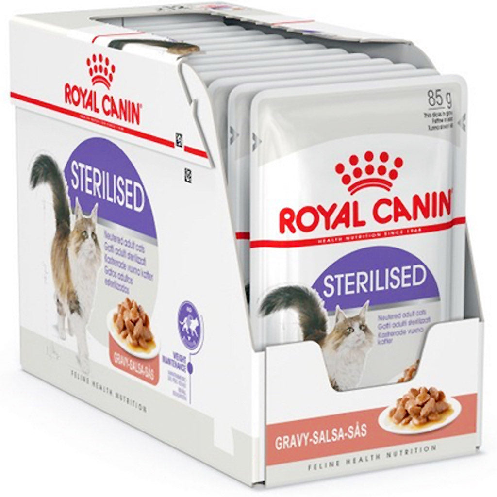 20% OFF: Royal Canin® Sterilised Wet Pouches Cat Food 85g (12pcs)