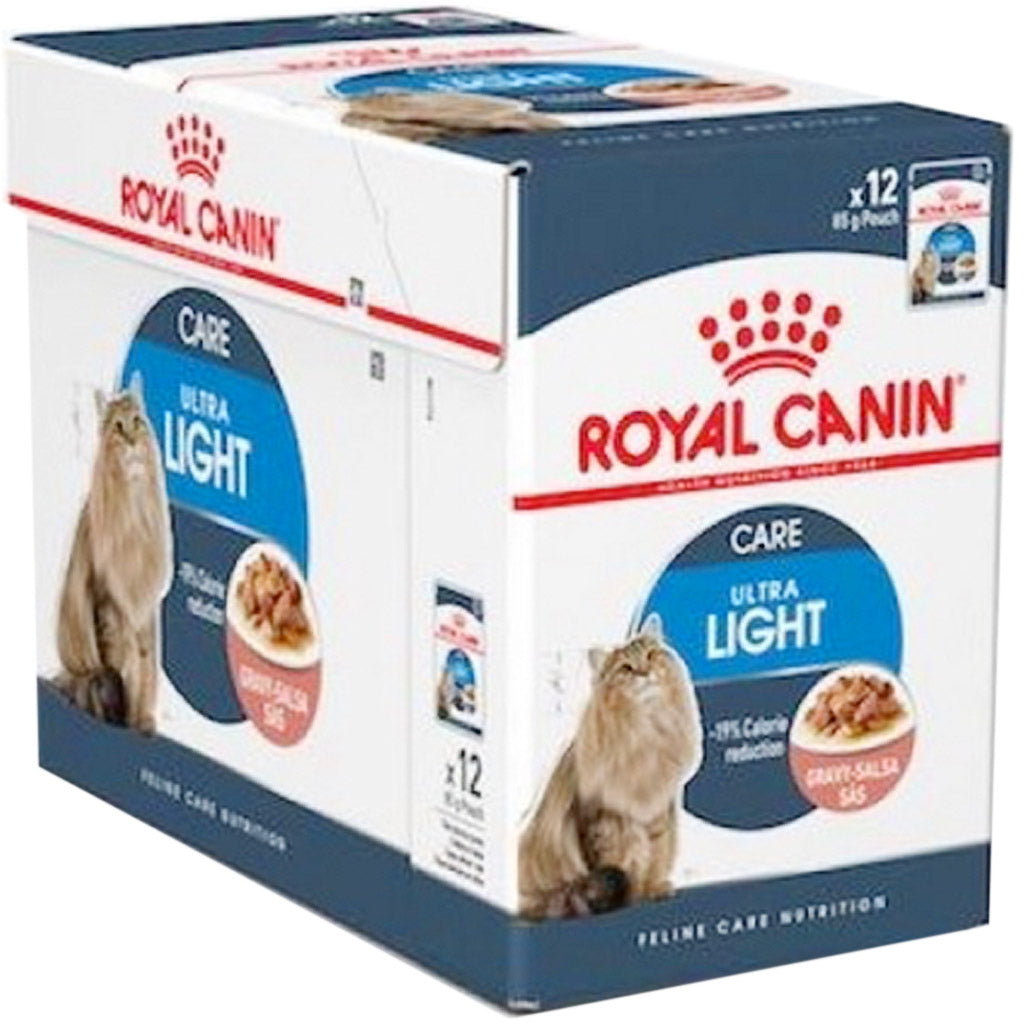 20% OFF: Royal Canin® Feline Ultra Light Wet Pouches Cat Food (12pcs)