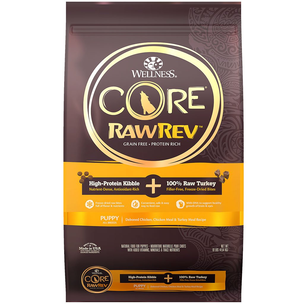 30% OFF + FREE MAJOR DOG TOY [XMAS18]:  Wellness® CORE RawRev Puppy with Freeze-Dried Turkey Grain-Free Dry Dog Food (2 sizes)