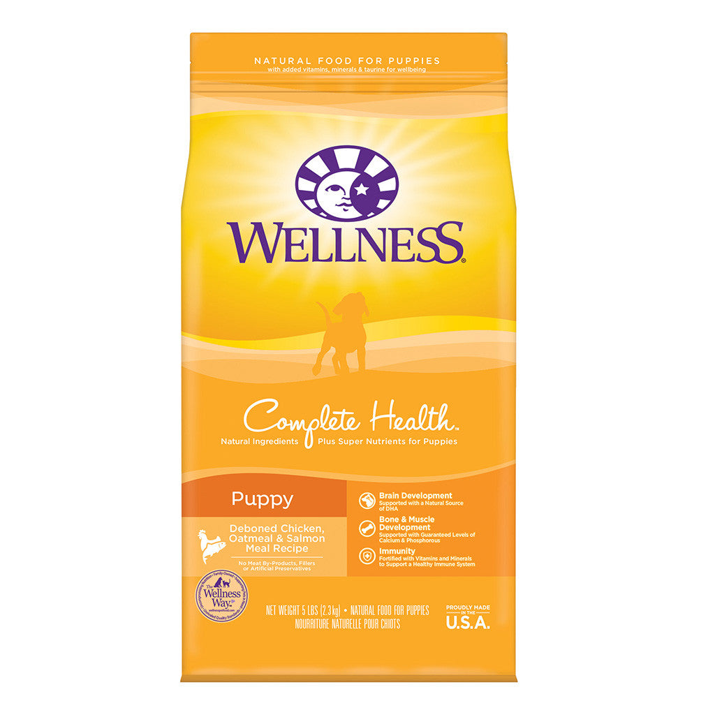 30% OFF + FREE TREATS: Wellness® Complete Health Puppy Dry Dog Food (2 sizes)