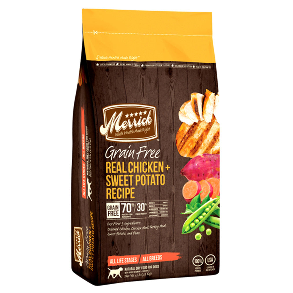 50% OFF + FREE TOY: Merrick® Chicken & Sweet Potato Grain-Free Dry Dog Food (3 sizes)