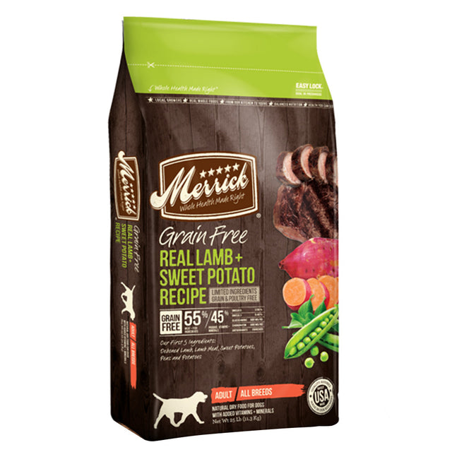 50% OFF + FREE TREAT: Merrick® Lamb & Sweet Potato Grain-Free Dry Dog Food (3 sizes)