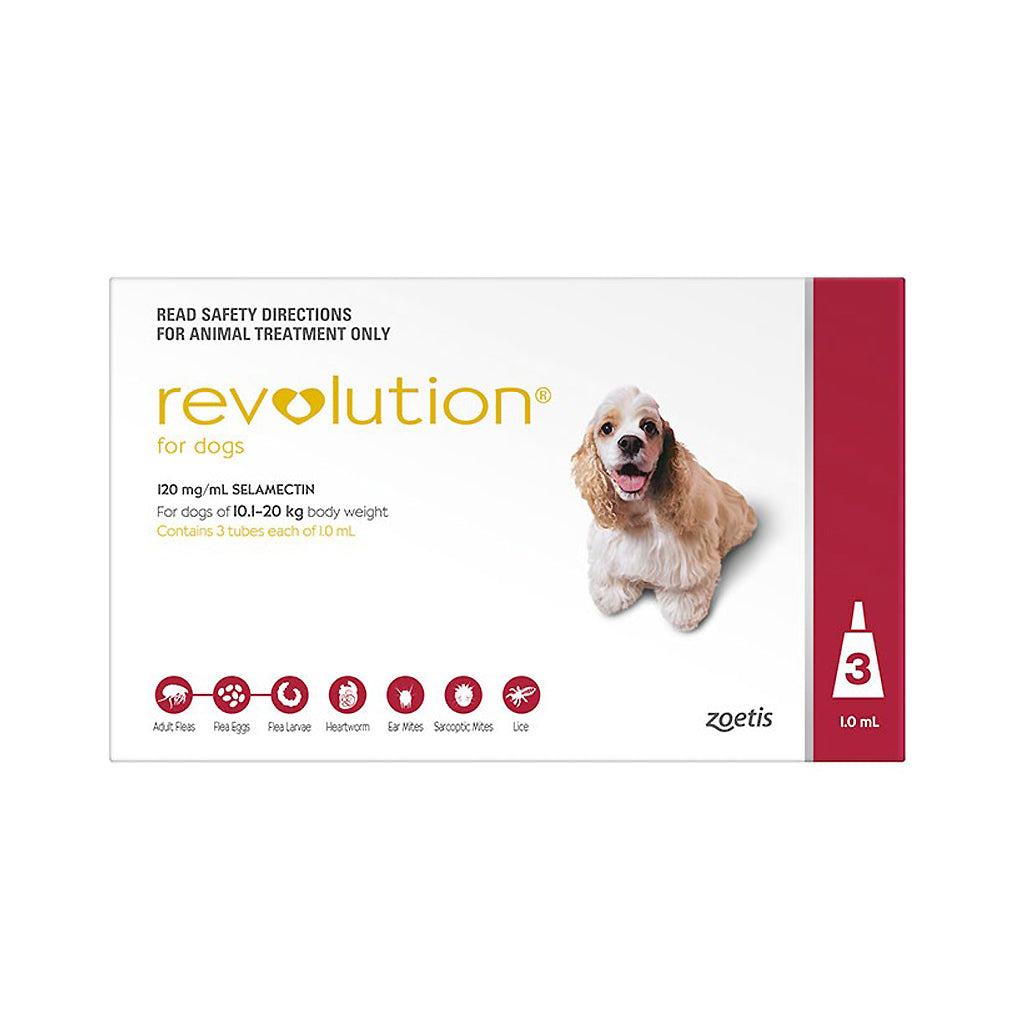 35% OFF: Revolution® Flea & Tick For Medium Dogs (10.1–20kg)