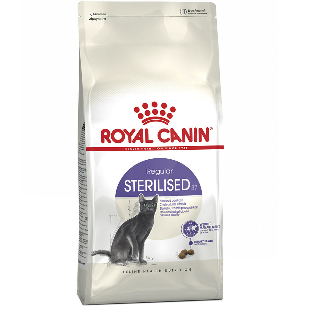 30% OFF + FREE BIN: Royal Canin® Feline Health Nutrition Sterilised +12 (Ageing) Dry Cat Food 2kg