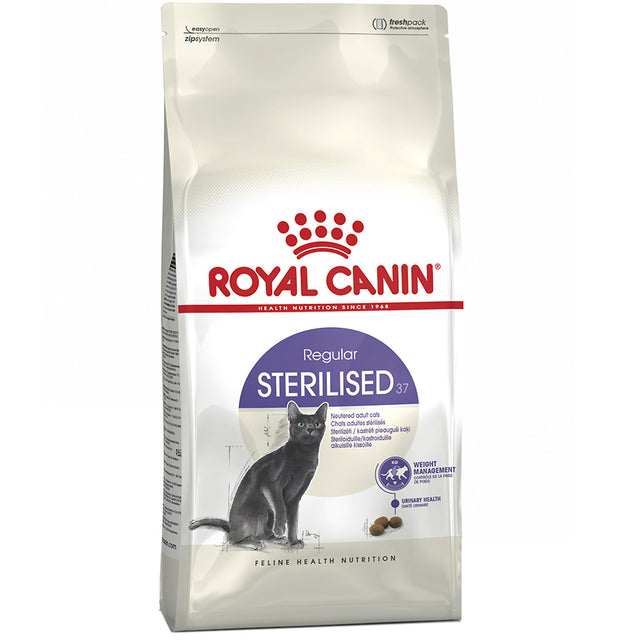 25% OFF + FREE TREATS: Royal Canin® Sterilised Adult Dry Cat Food (2 sizes)