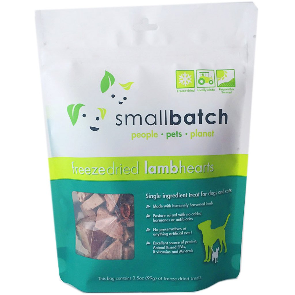 $15 ONLY: Smallbatch® Freeze-Dried Lamb Hearts Dog & Cat Treats (99g)