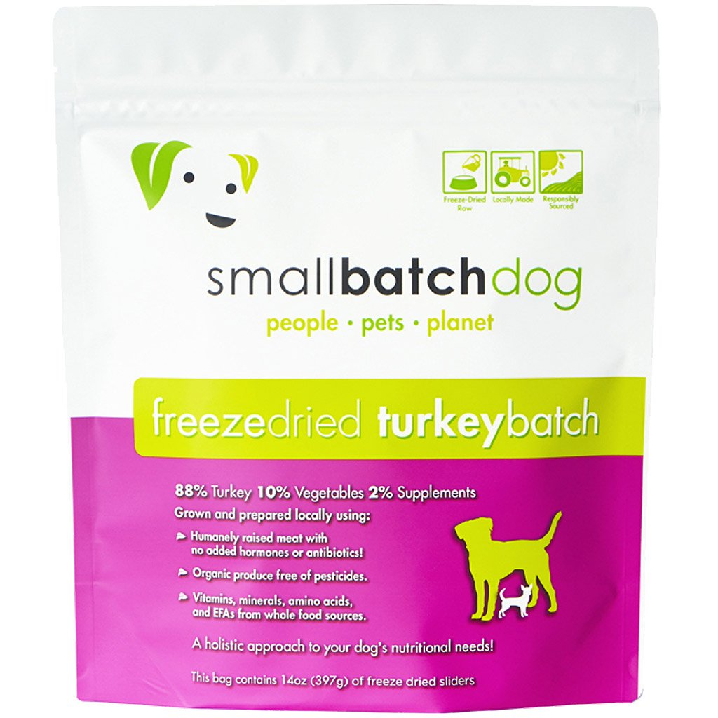 35% OFF [EXCLUSIVE]: Smallbatch® Freeze-Dried Turkey Sliders Dry Dog Food (397g)