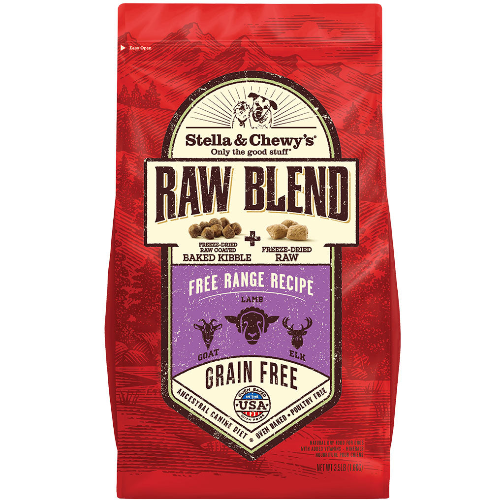 20% OFF + FREE TREATS: Stella & Chewy's® Freeze-Dried Raw Blend Kibble Lamb, Goat & Elk Grain-Free Dry Dog Food (2 sizes)
