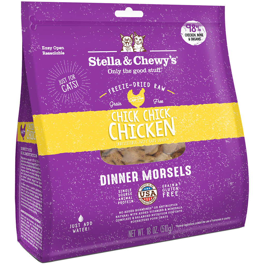 15% OFF + FREE WET FOOD: Stella & Chewy's® Chick, Chick, Chicken Dinner Morsels Freeze-Dried Cat Food (2 sizes)