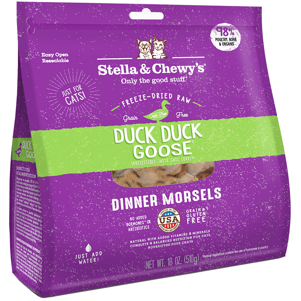 15% OFF: Stella & Chewy's® Duck, Duck Goose Dinner Morsels Freeze-Dried Cat Food (2 sizes)