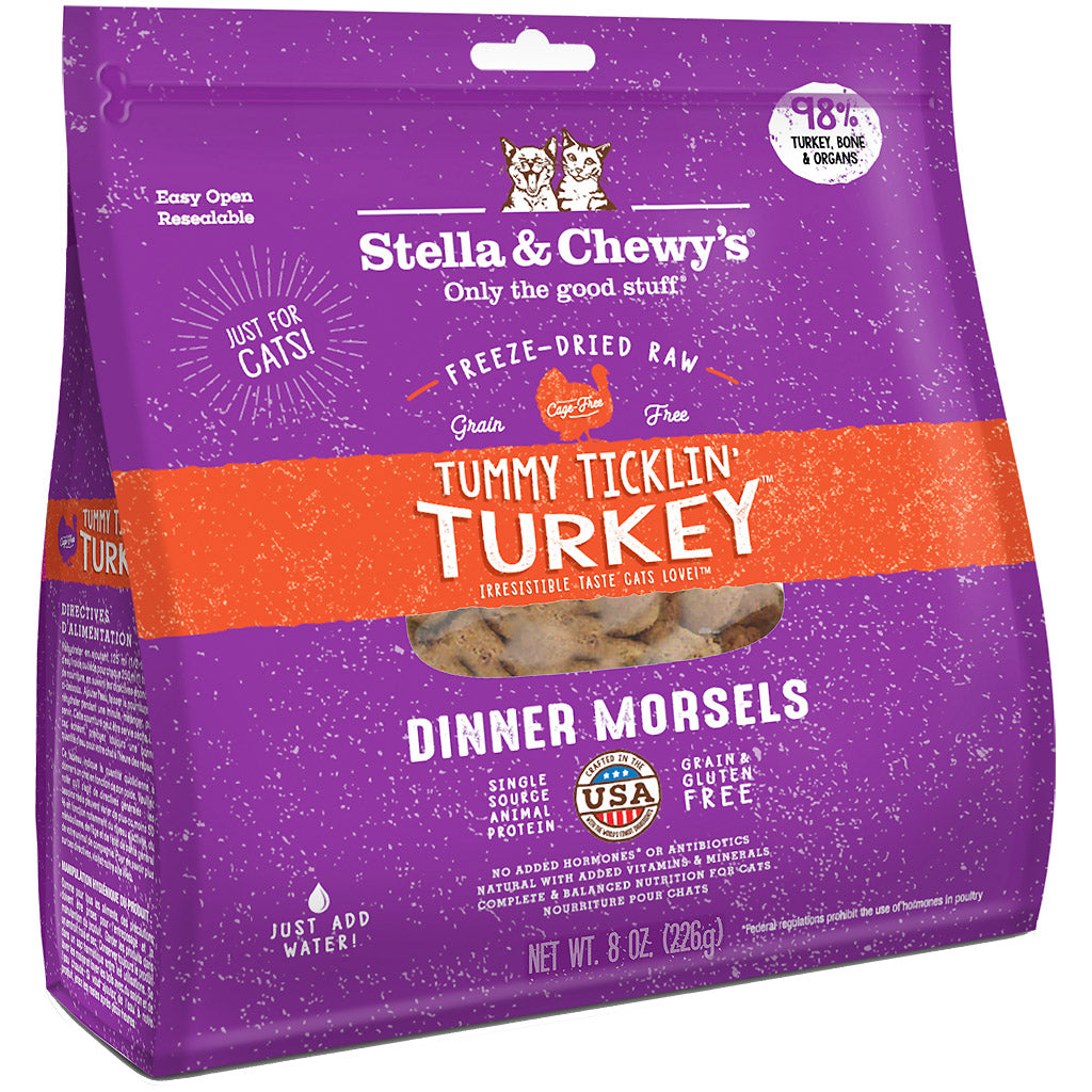 15% OFF: Stella & Chewy's® Tummy Ticklin' Turkey Dinner Morsels Freeze-Dried Cat Food (2 sizes)