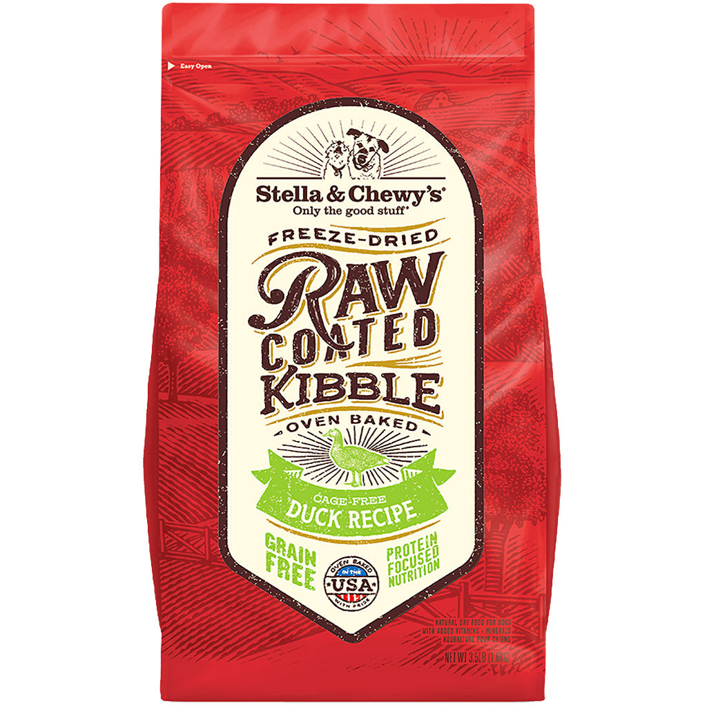 15% OFF + FREE TREATS: Stella & Chewy's® Freeze-Dried Raw Coated Kibbles Duck Dog Food (2 sizes)
