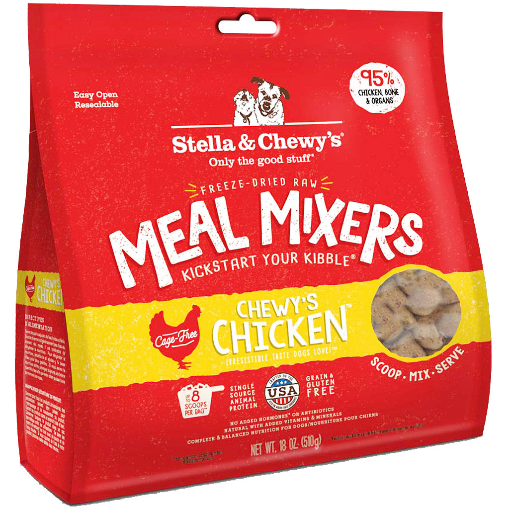 3 FOR $88 + FREE STEW [GSS19]: Stella & Chewy's® Chicken Meal Mixers Freeze-Dried Dog Food (2 sizes)