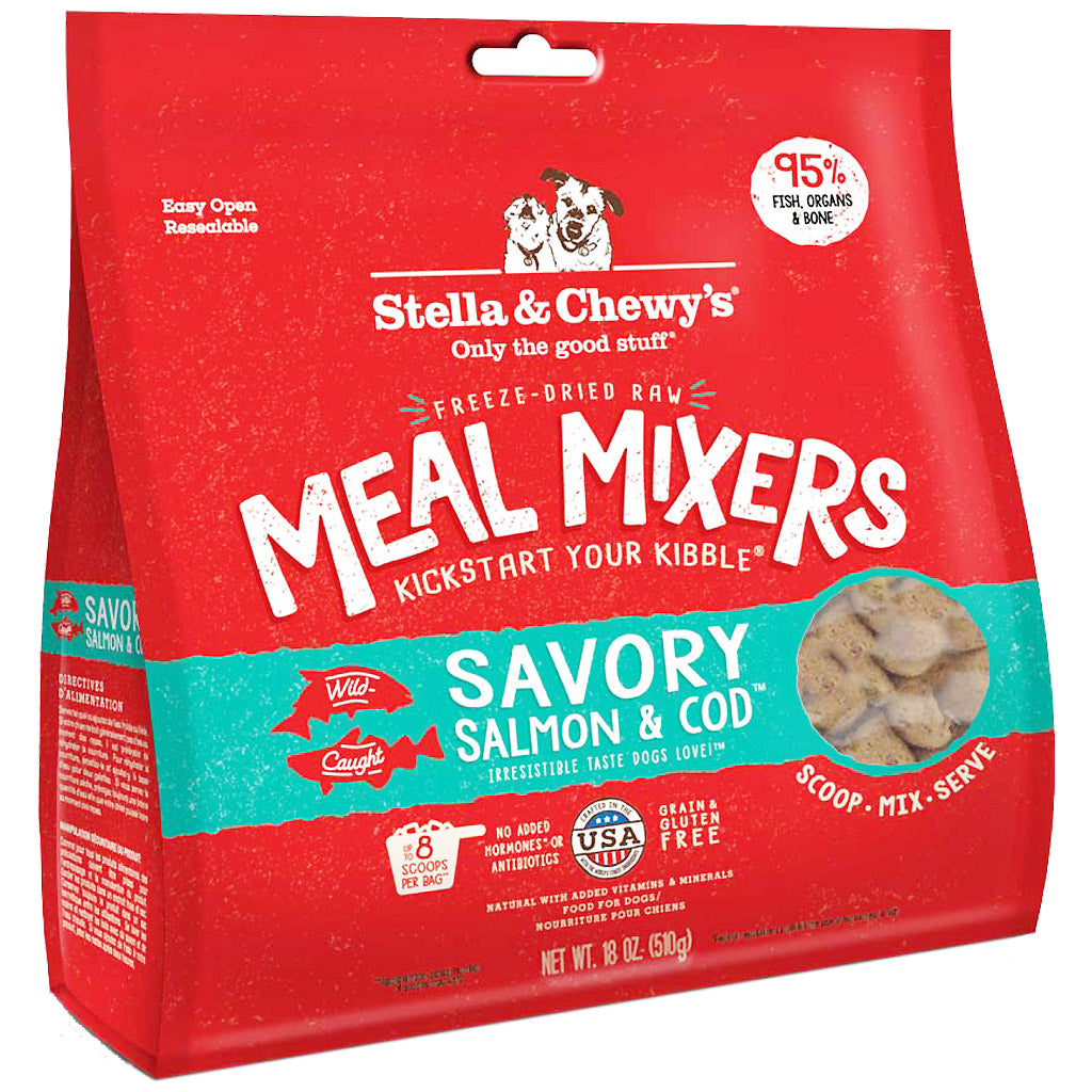 20% OFF: Stella & Chewy's® Savory Salmon & Cod Meal Mixers Freeze-Dried Dog Food (2 sizes)