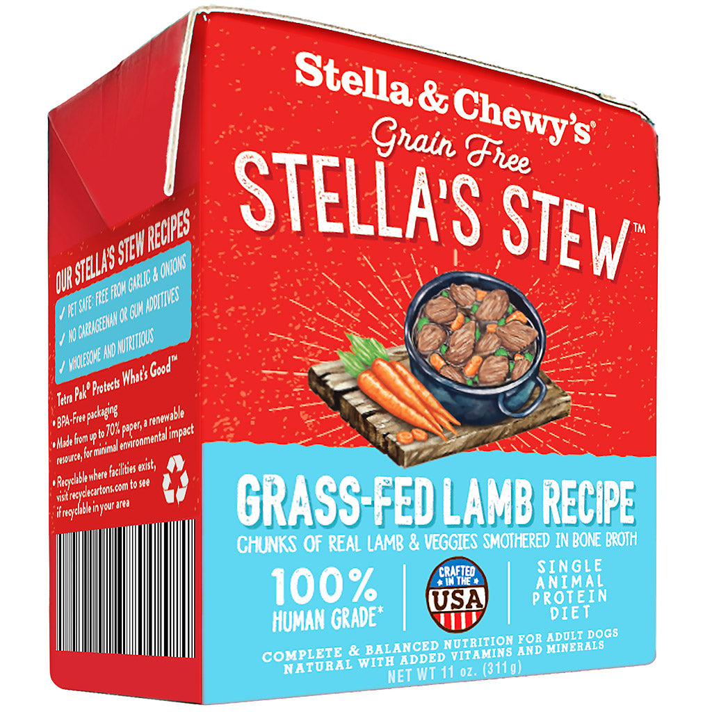 3 FOR $18.80 [NEW]: Stella & Chewy's® Grain-Free Stews - Grass-Fed Lamb Wet Dog Food