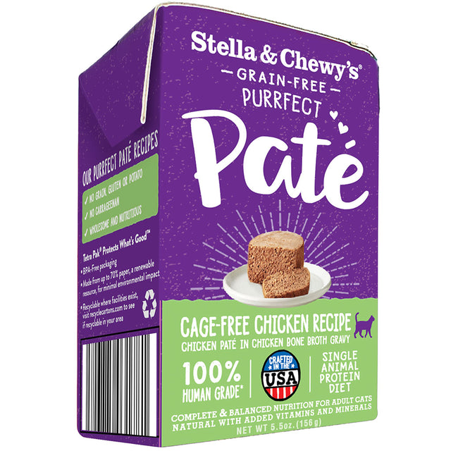 15% OFF [NEW] Stella & Chewy's® Purrfect Pate Cage-Free Chicken Recipe Wet Cat Food (156g)
