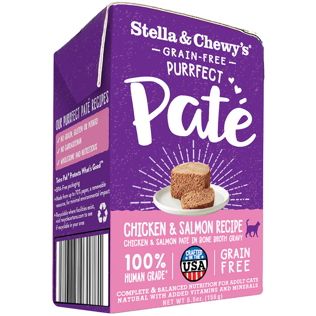 15% OFF [NEW] Stella & Chewy's® Purrfect Pate Cage-Free Chicken & Salmon Medley Recipe Wet Cat Food (156g)