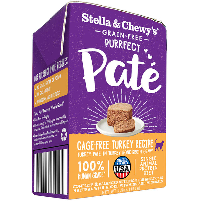 15% OFF [NEW] Stella & Chewy's® Purrfect Pate Cage-Free Turkey Recipe Wet Cat Food (156g)
