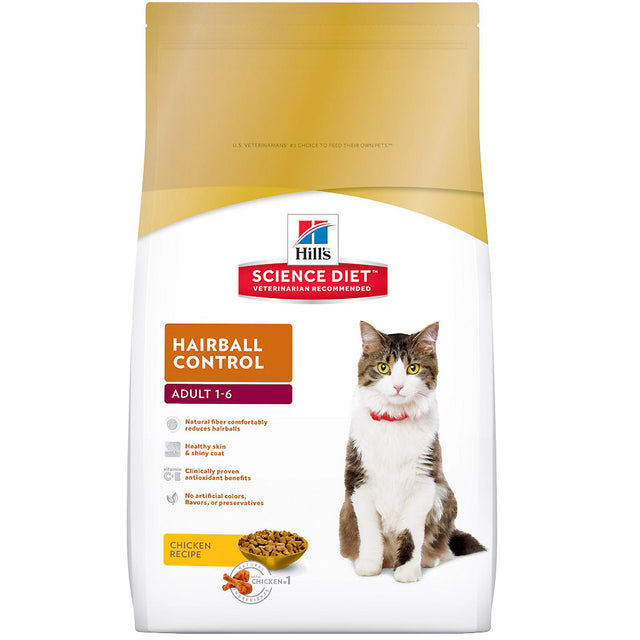 25% OFF: Hill's® Science Diet Hairball Control Adult Dry Cat Food (3 sizes)
