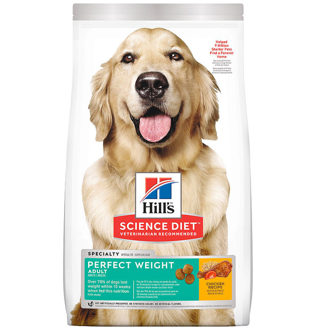 30% OFF + FREE CUSHION [EXPO20]: Hill's® Science Diet Adult Perfect Weight Dry Dog Food (2 sizes)
