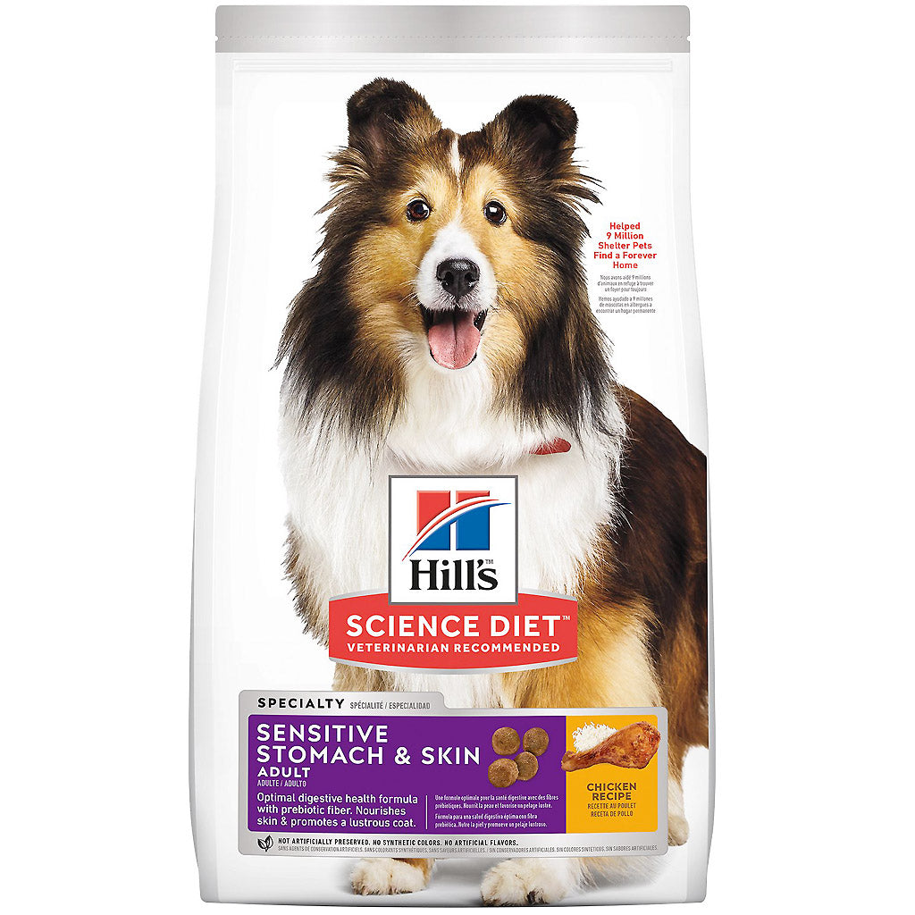 30% OFF + FREE TREATS: Hill's® Science Diet Sensitive Stomach & Skin Dry Dog Food (2 sizes)