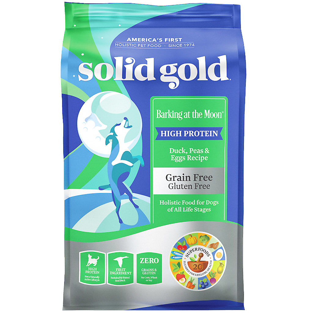 45% OFF: Solid Gold® Barking At The Moon (Duck, Pea & Egg) Grain-Free Dry Dog Food (2 sizes)