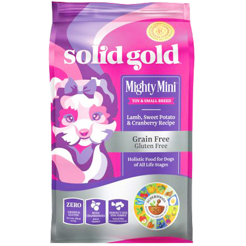 35% OFF: Solid Gold® Mighty Mini Lamb & Cranberry Small Breed Grain-Free Dry Dog Food (1.8kg)