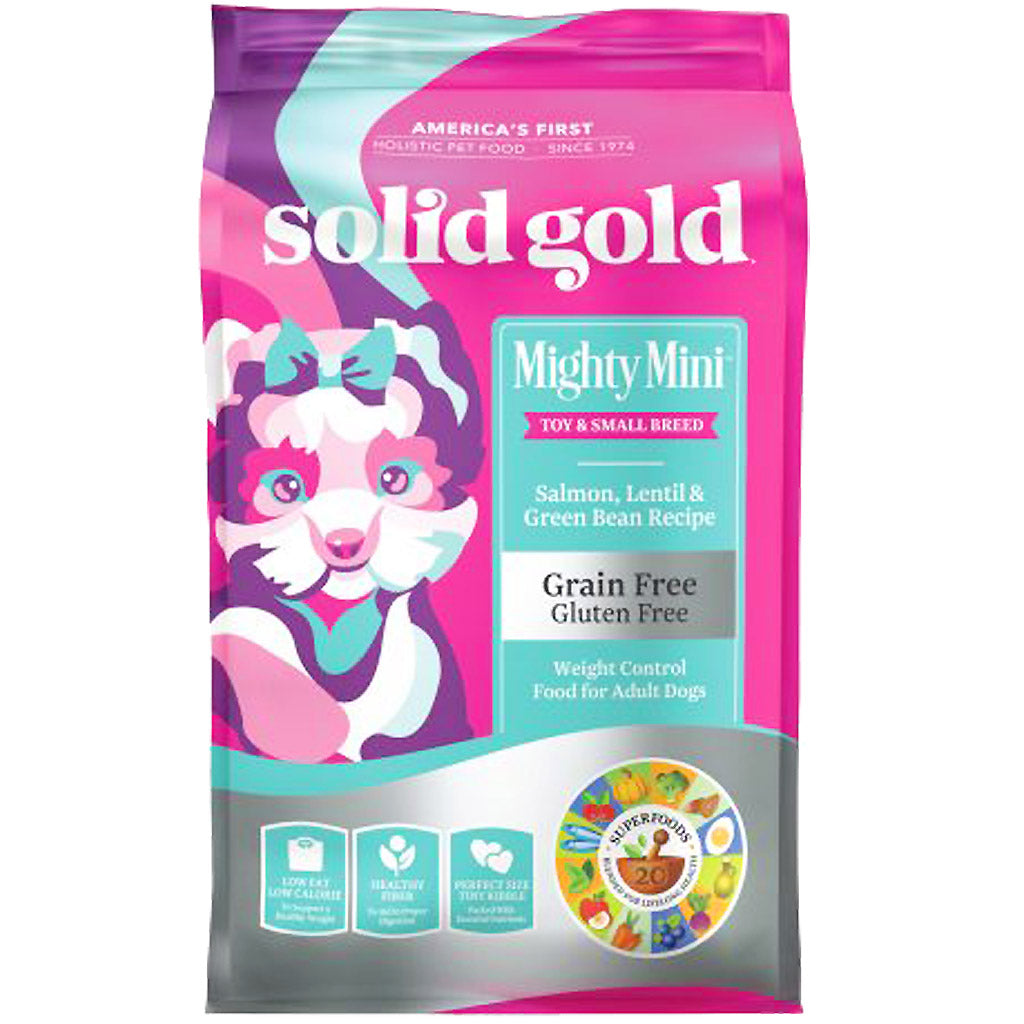 35% OFF: Solid Gold® Mighty Mini Salmon & Lentils Small Breed Grain-Free Dry Dog Food (1.8kg)