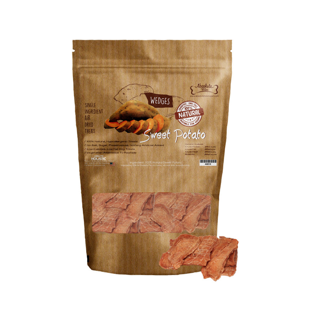 [BUY 2 FREE 1] Absolute Bites® Air-Dried Sweet Potato Dog Treats 200g