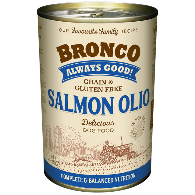12 FOR $30 [BFCM]: Bronco Salmon Olio Grain-Free Wet Dog Food 390g