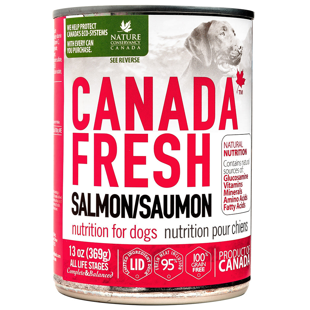 $5 ONLY [NY21]: Canada Fresh® Salmon Nutrition Grain-Free Canned Dog Food 369g