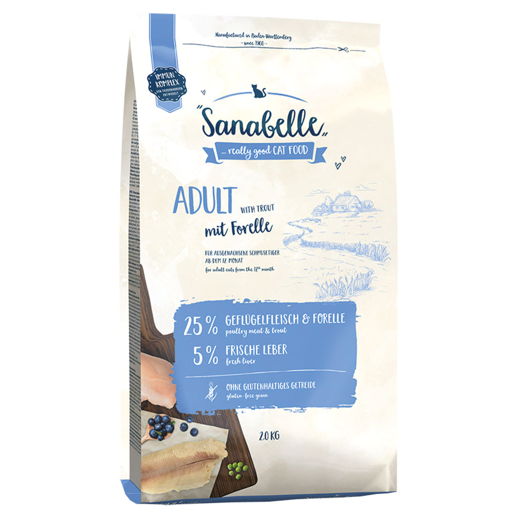30% OFF: Sanabelle® Adult Trout Formula Dry Cat Food (2 sizes)