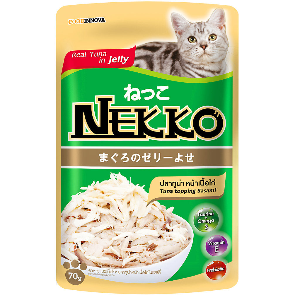 45% OFF: Nekko® Tuna With Sasami Pouch Cat Food 70g