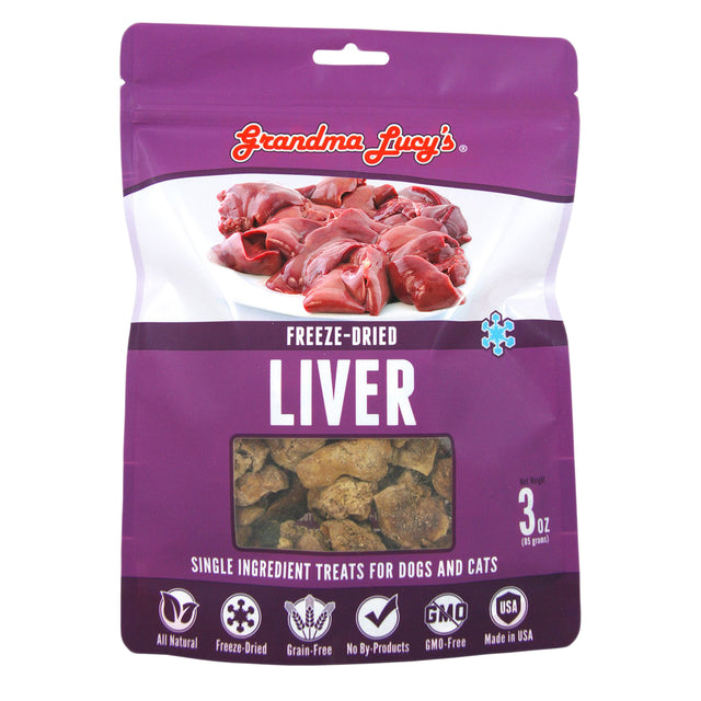 2 FOR $30 [CNY20]: Grandma Lucy's® Freeze-Dried Single Ingredient Liver Dog & Cat Treats (70g)