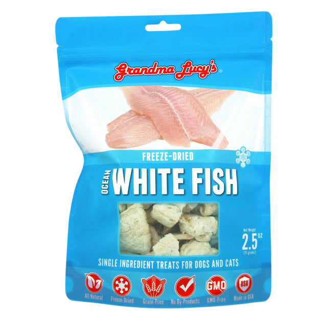 10% OFF: Grandma Lucy's® Freeze-Dried Single Ingredient Ocean White Fish Dog & Cat Treats (57g)