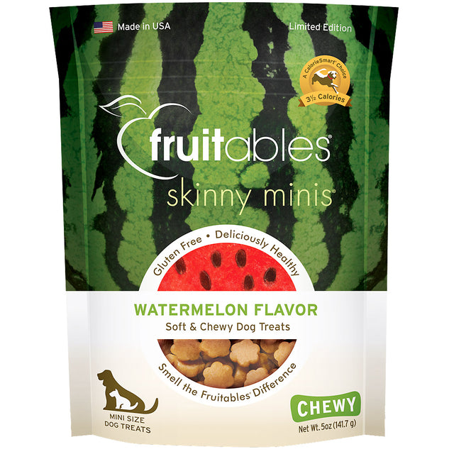 BUY 2 FREE 1 [BFCM]: Fruitables® Soft & Chewy Skinny Minis Watermelon Dog Treats (190g)