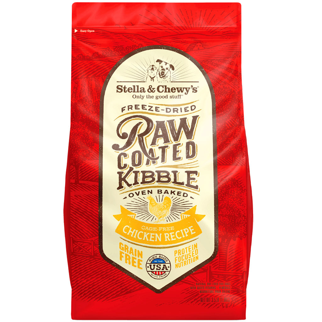 20% OFF + FREE TREATS: Stella & Chewy's® Freeze-Dried Raw Coated Kibbles Chicken Grain-Free Dog Food (2 sizes)