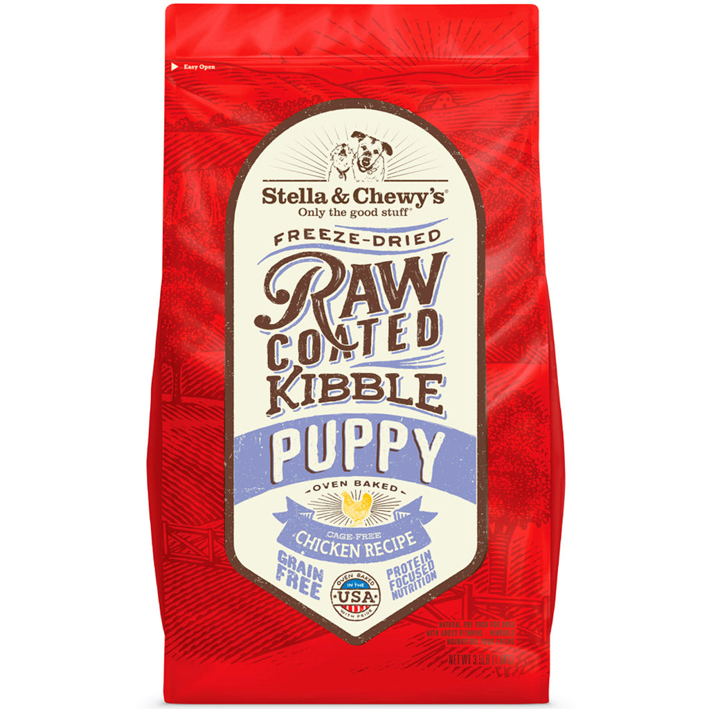 20% OFF + FREE TREATS: Stella & Chewy's® Freeze-Dried Raw Coated Kibble Puppy Grain-Free Dog Food (2 sizes)