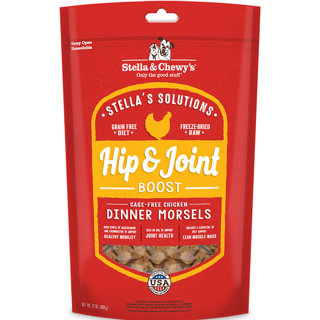 10% OFF [NEW]: Stella & Chewy's® Stella's Solutions (Hip & Joint Boost) Chicken Dinner Freeze-Dried Dog Food (368g)