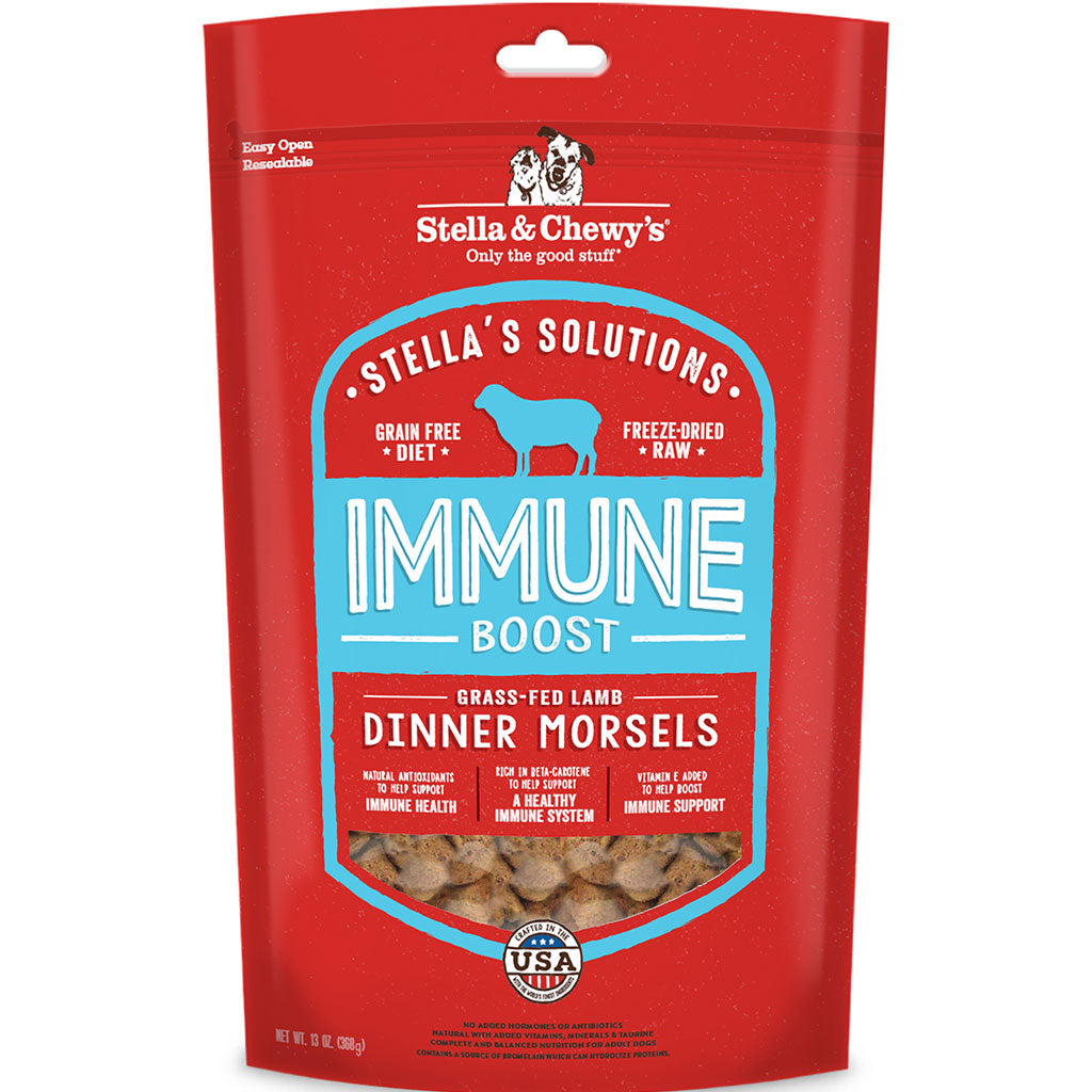 10% OFF [NEW]: Stella & Chewy's® Stella's Solutions (Immune Support) Lamb Freeze-Dried Dog Food (368g)
