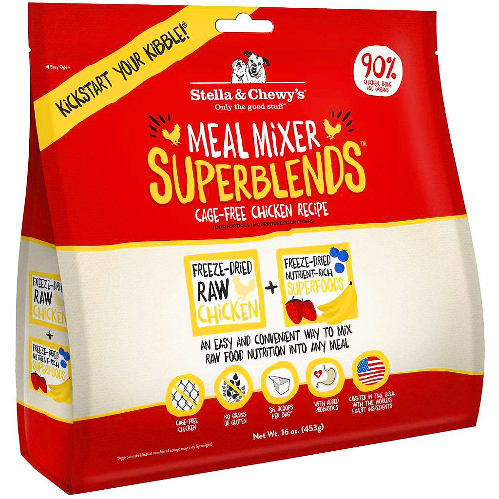 15% OFF: Stella & Chewy's® Chicken Superblends Meal Mixers Freeze-Dried Dog Food (454g)