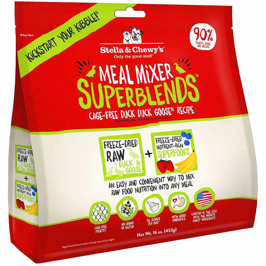 15% OFF: Stella & Chewy's® Duck Duck Goose Superblends Meal Mixers Freeze-Dried Dog Food (454g)