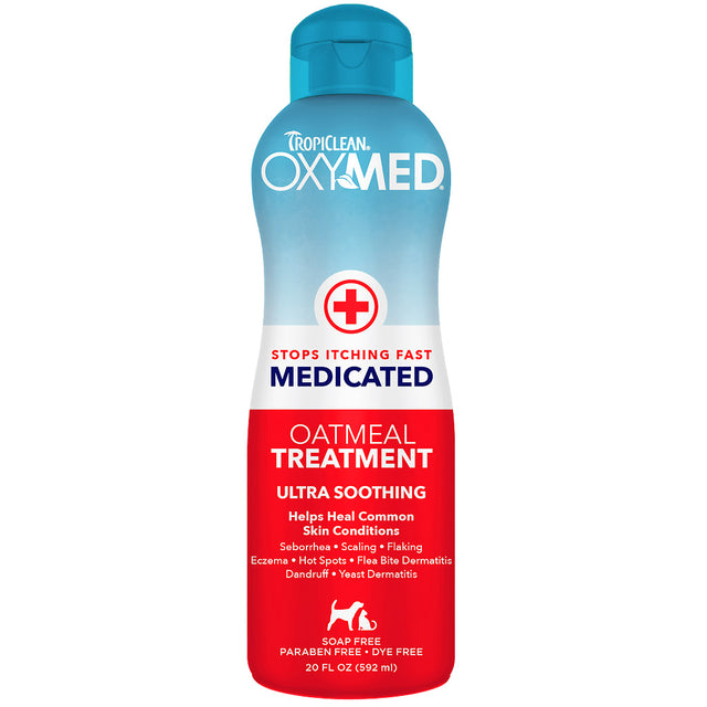 20% OFF: TropiClean® OxyMed Medicated Treatment Rinse for Dogs & Cats (591ml)