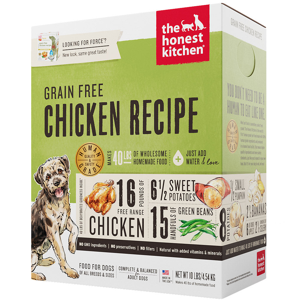 15% OFF + FREE TREATS: The Honest Kitchen® Force Chicken Grain-Free Dehydrated Dog Food (3 sizes)