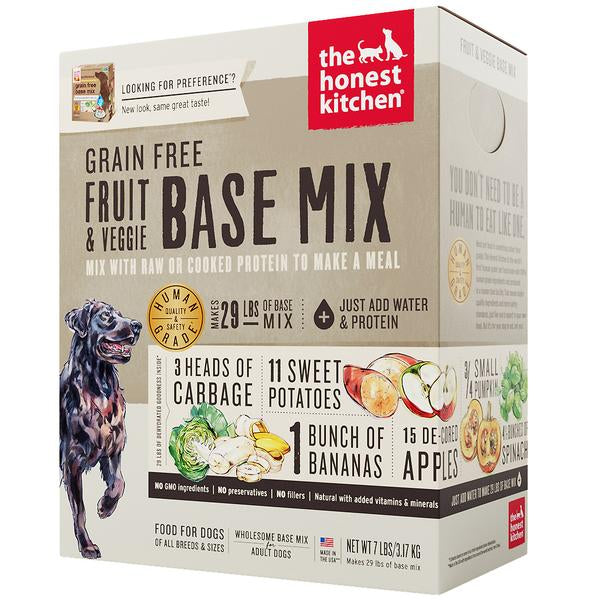 15% OFF + FREE TREATS: The Honest Kitchen® Preference Grain-Free Fruit & Veggie Mix Dehydrated Dog Food (2 sizes)