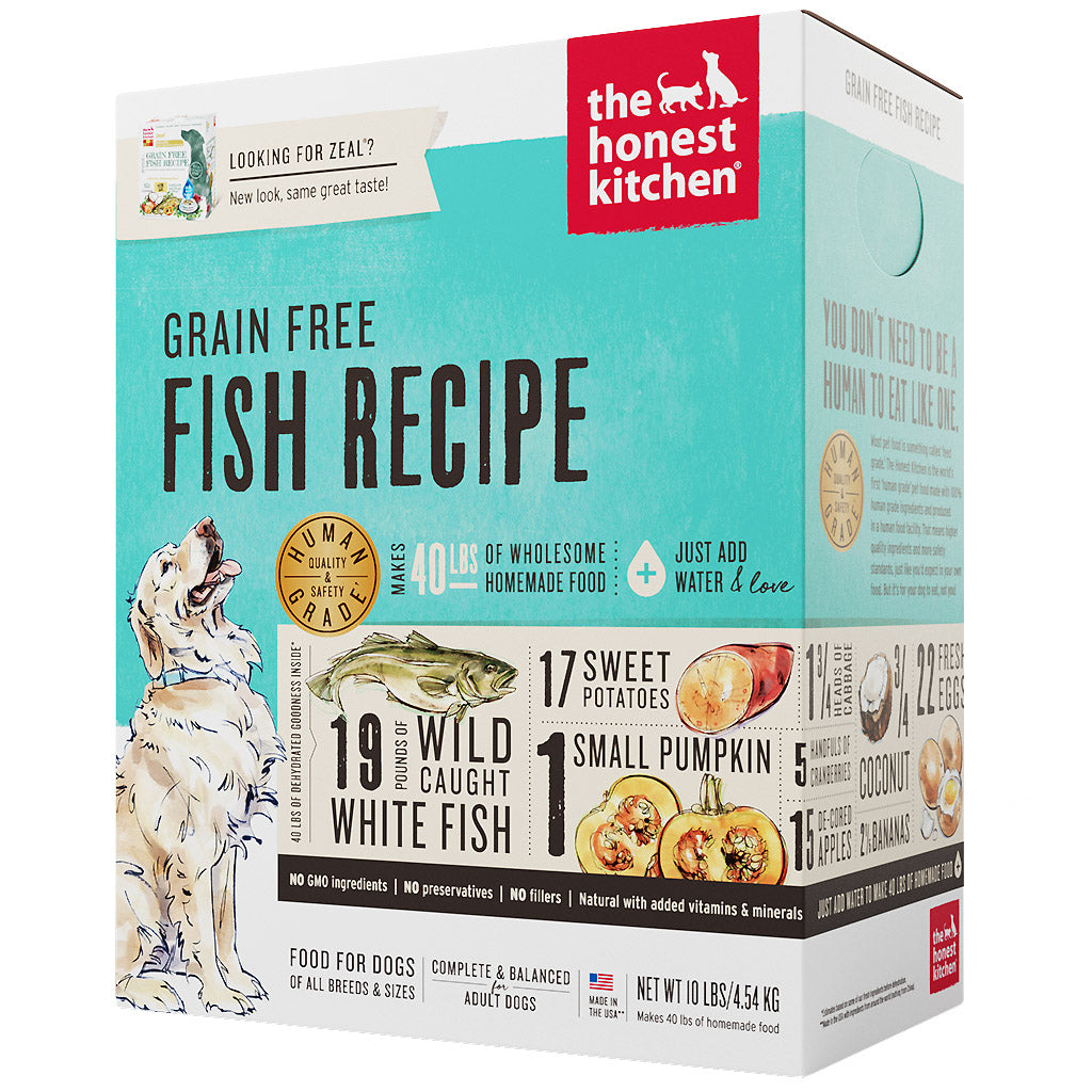 15% OFF + FREE TREATS: The Honest Kitchen® Zeal Fish Grain-Free Dehydrated Dog Food (2 sizes)