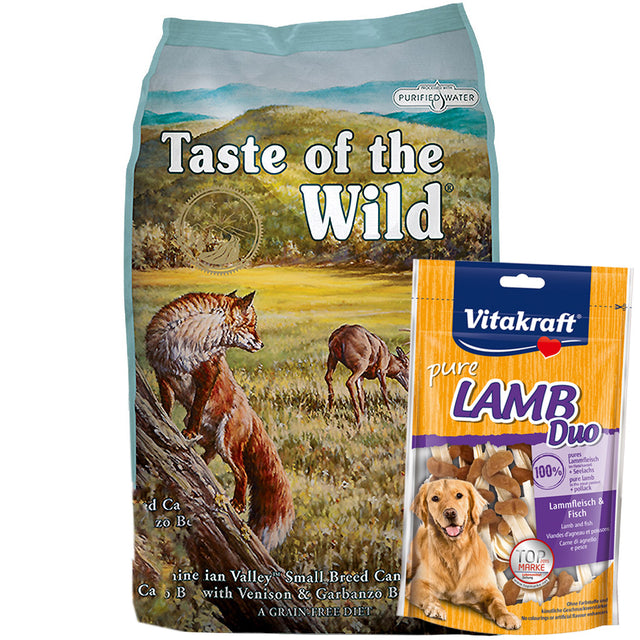 55% OFF + FREE TREATS: Taste Of The Wild® Appalachian Valley Small Breed Grain-Free Dry Dog Food (2 sizes)